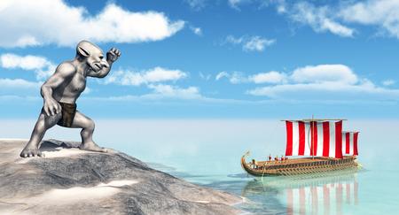 homer: Odysseus at the Cyclopes Stock Photo