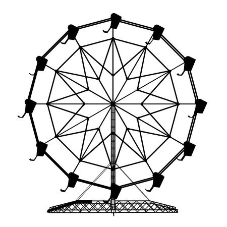 Silhouette of a ferris wheel