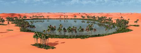 Desert oasis 版權商用圖片 - 75379052