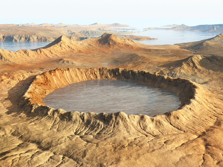 Impact crater Stock Photo