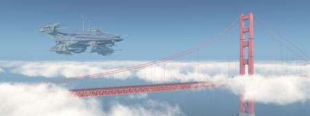 ゴールデン ゲート ブリッジ、巨大な宇宙船