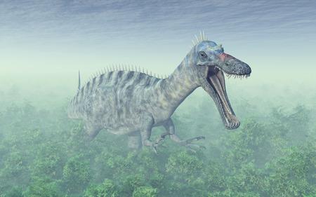 Dinosaur Suchomimus Stock Photo