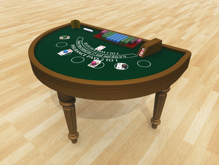 gambling game: Blackjack table