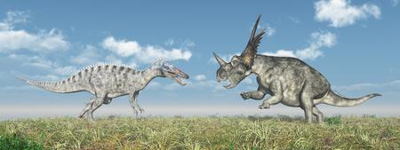 monstrous: Suchomimus and Styracosaurus