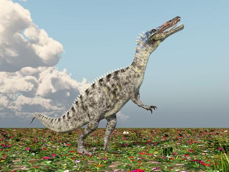 monstrous: Dinosaur Suchomimus Stock Photo