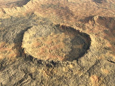 Impact crater Stock fotó