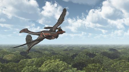 Dinosaur Microraptor