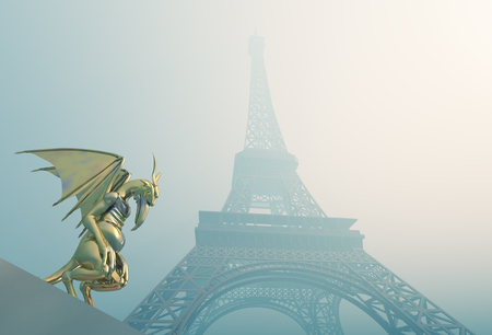 monstrous: Gargoyle and Eiffel Tower