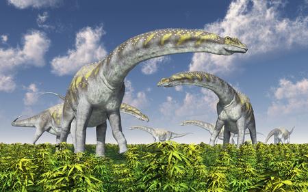 Dinosaurus Argentinosaurus Stockfoto