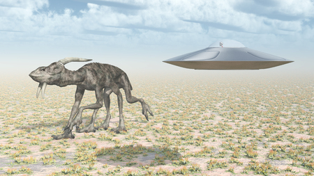 Extraterrestrial life and flying saucer