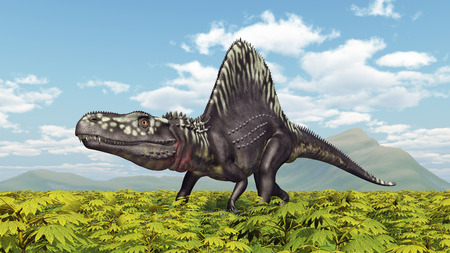 monstrous: Archosaur Arizonasaurus Stock Photo