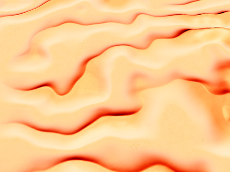 砂漠の風景の空撮 写真素材