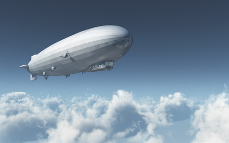 Airship over the clouds