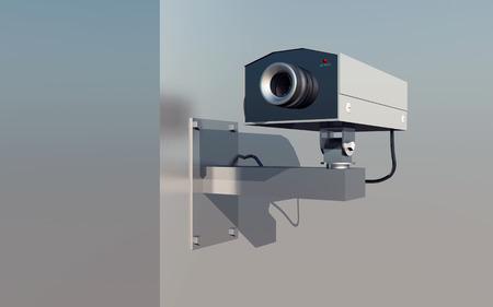 Surveillance camera on a house wall