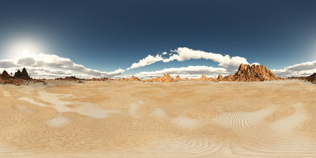 Spherical 360 degrees seamless panorama with a desert landscape Stok Fotoğraf
