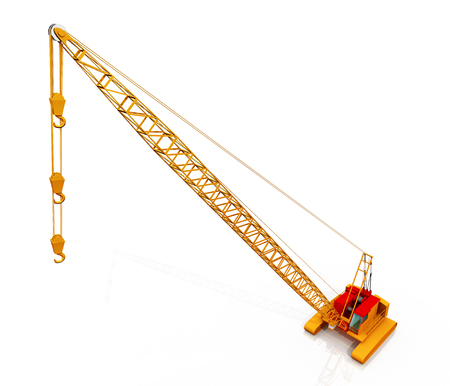 Rope crane against a white background Imagens