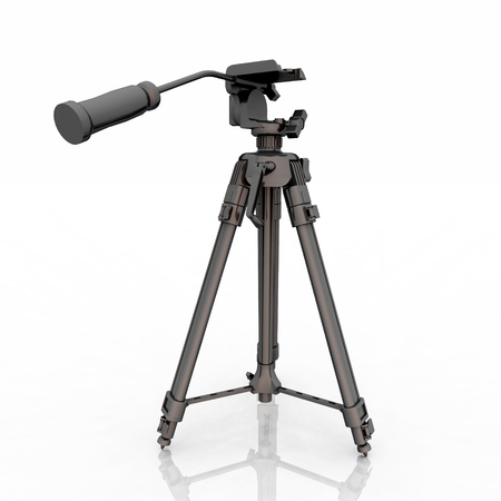 Tripod against a white background