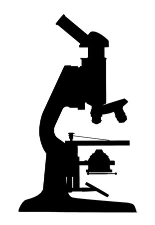 Silhouette of a microscope