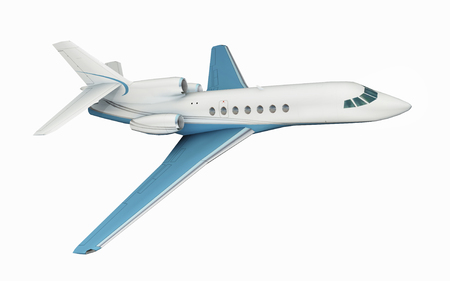 Business jet isolated on white background Stock Photo