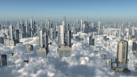 Stad over de wolken