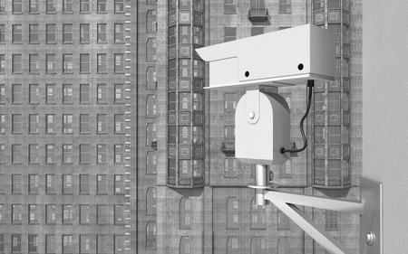 Surveillance camera in a city