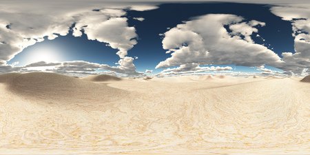 Spherical 360 degrees seamless panorama with a desert landscape Stock Photo