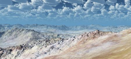 Barren stone desert