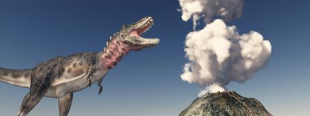 Volcanic eruption and the dinosaur Tarbosaurus