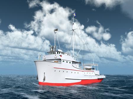 Thunfisch-Fischereifahrzeug Standard-Bild - 91595759