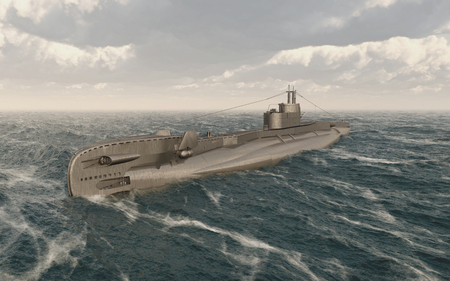 British submarine of World War II Archivio Fotografico - 95067792