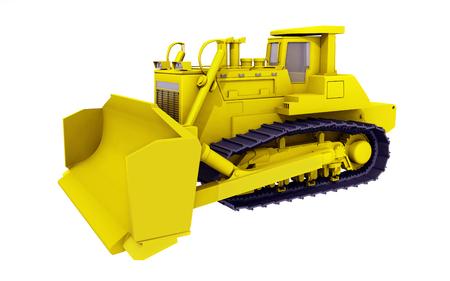 Bulldozer isolated on white background Reklamní fotografie
