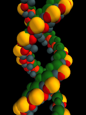 DNA Strand against a black background