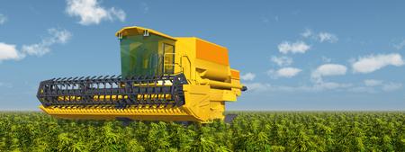 Combine harvester on a field Reklamní fotografie