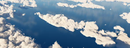 Aerial view of clouds over the sea Reklamní fotografie