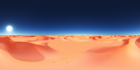 Spherical 360 degrees seamless panorama with a sand desert Imagens - 98859019