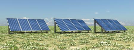 Solar panels in a landscape Archivio Fotografico - 98859026