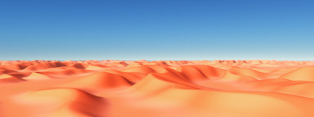 Sand desert with dunes