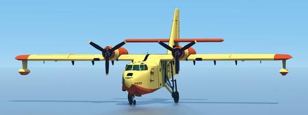 Firefighting plane 3d rendering 写真素材