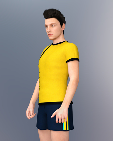 Young man in sporty clothes