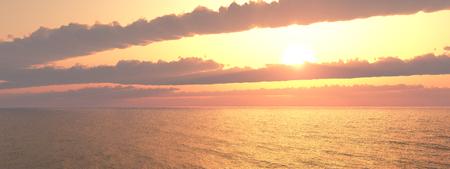 Ocean panorama at sunset