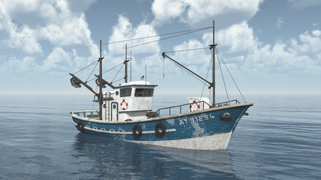 Vissende trawler