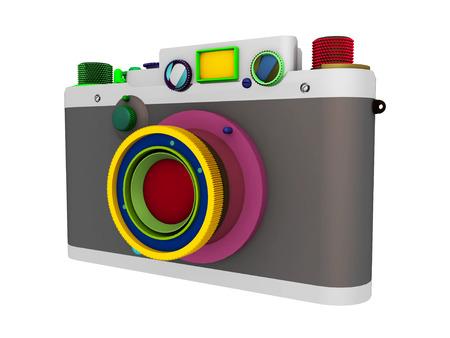 35mm camera isolated on white background 스톡 콘텐츠