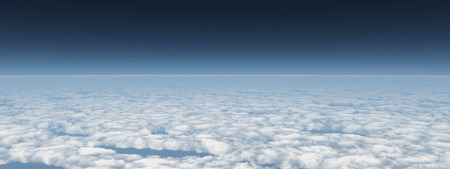Panoramic view over the clouds