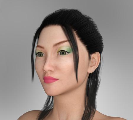 Pretty Asian woman with makeup Standard-Bild - 104871266
