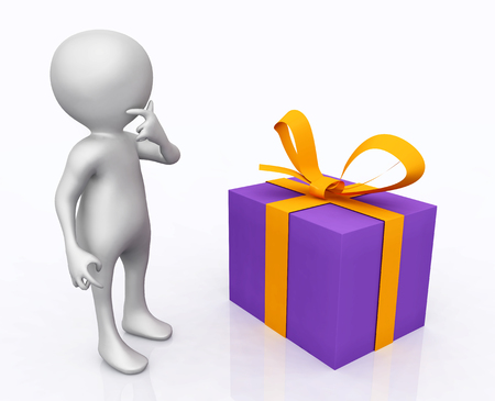 3D figure with gift package