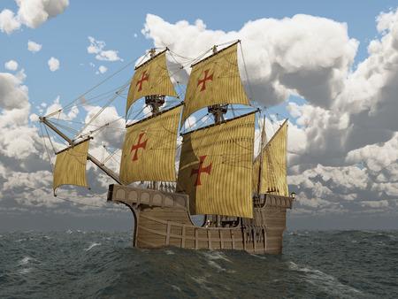 Caravelle portugaise du XVe siècle