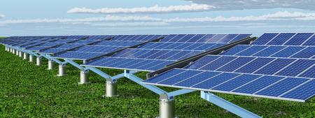 Solar panels in a landscape Archivio Fotografico - 107997036