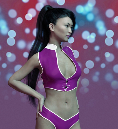 Showgirl in sexy outfit 版權商用圖片