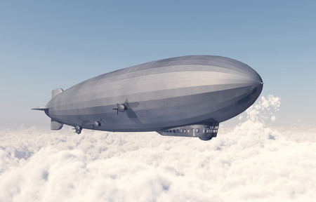 Airship over the clouds Stock fotó - 111193255