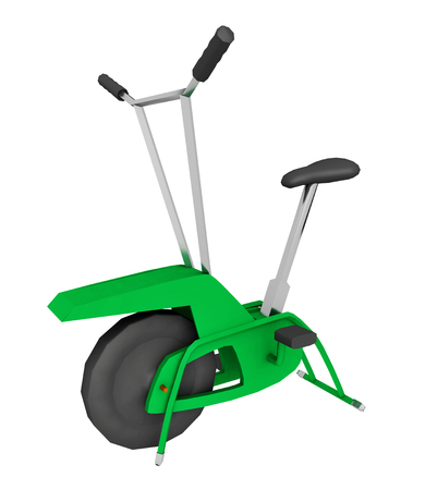 Exercise bike isolated on white background Stock Photo
